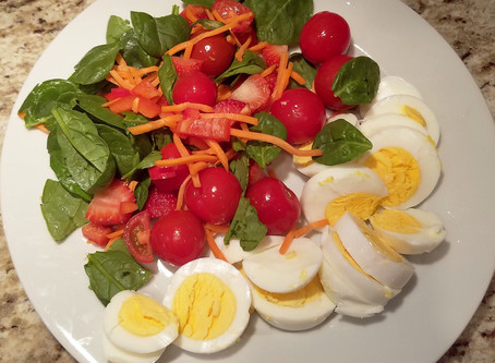 Fall Salad (Red, Yellow and Orange)