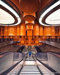 Pannenhuis metro station. Brussels
