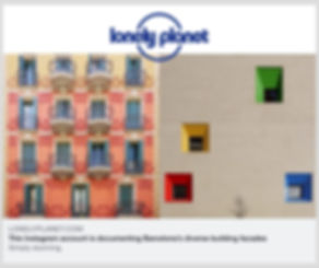 Lonely Planet Barcelona facades by Roc Isern