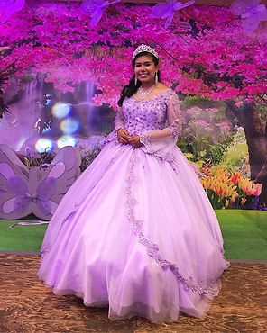 lilac long sleeve custom made quinceanera dress