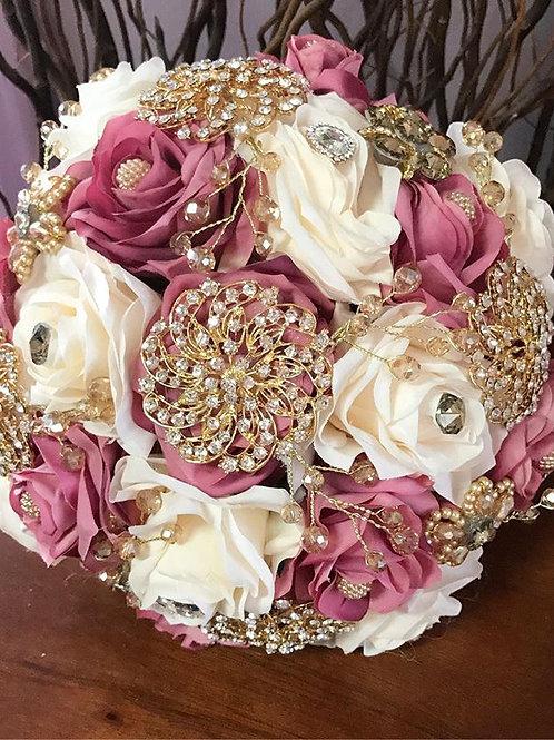 Mauve & Ivory Bouquet.