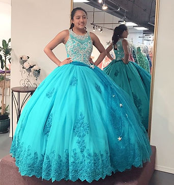 Turquoise hand beaded and lace custom made beaded lace quinceanera dress
