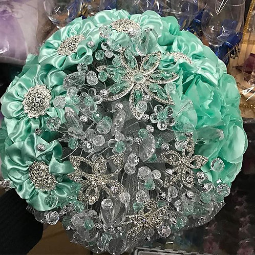 Crystal & Ribbon Silver Bouquet.