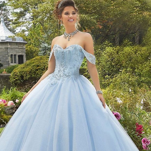 GLITTER SWEETHEART QUINCEANERA DRESS BY MORI LEE VALENCIA 60101