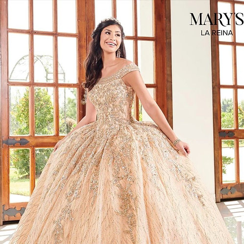 GLITTER OFF SHOULDER QUINCEANERA DRESS BY MARY'S BRIDAL MQ2095