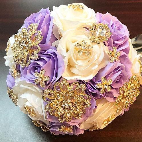 Lilac & Ivory Bouquet.