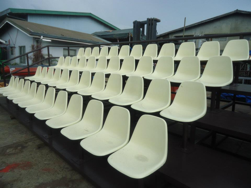 FIBERGLASS GANG CHAIR  Backrest - 40cm x 38 cm Seat - 40 cm x 40 cm