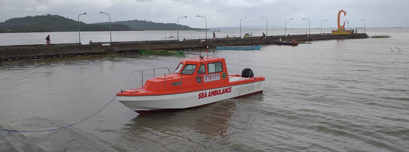 29 ftr. SEA AMBULANCE  Specification: Overall Length   : 29 Ft.  Beam Molded    : 7 Ft. Depth                 : 3.11 Ft. Draft                   : 1 Ft. Capacity             : 6+2 crew  Molded fibreglass enclosed pilot house, enough for 1 patient lying and set for medic