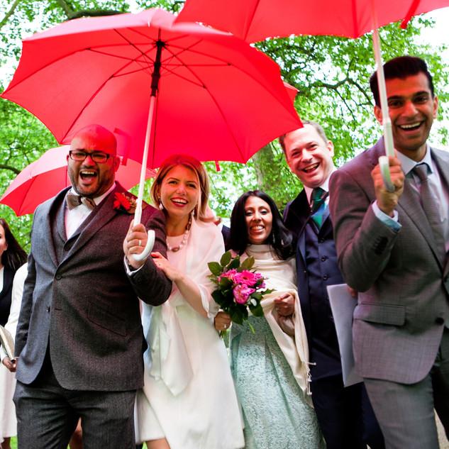 Rainy Wedding photograph