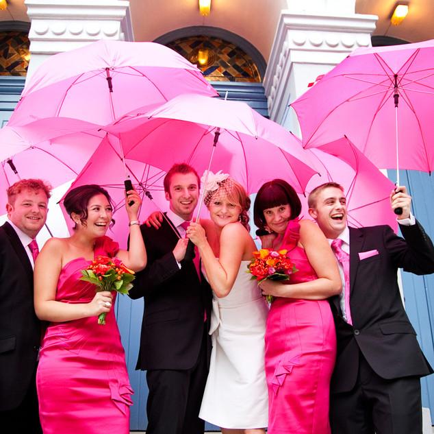 Rainy London wedding photograph