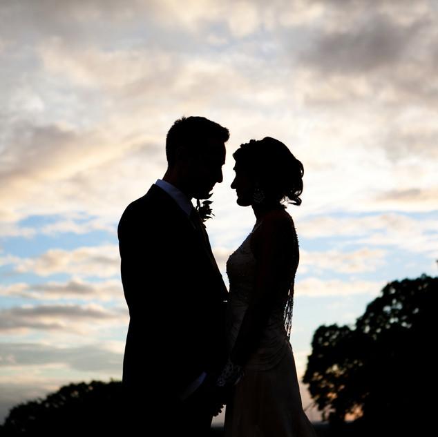 London Sunset wedding photograph