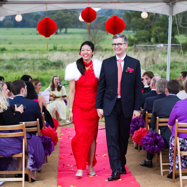 Chinese and English wedding photograph