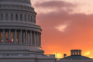 Sunset Behind the U.S. Capital Dome