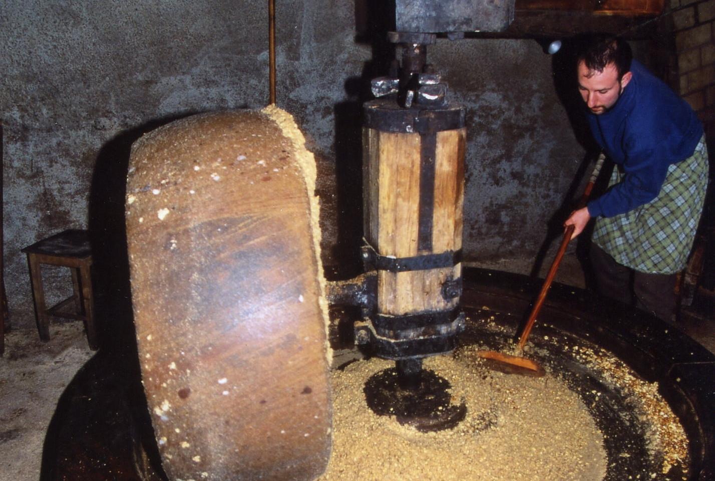 Démonstration au moulin