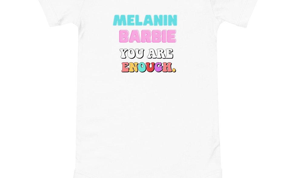 Baby Melanin Barbie Onesie
