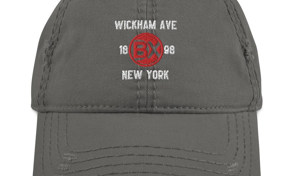 Wickham Ave Distressed Dad Hat