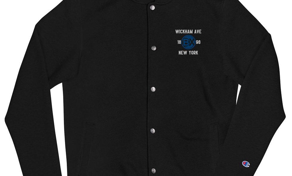 Wickham Ave Embroidered Bomber Jacket