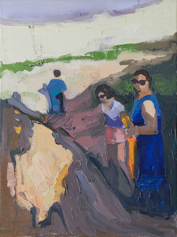 The Sisters Went for a Walk I, oil on canvas, 40*30cm| 2017