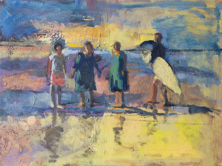 The Sisters Went for a Walk III, oil on canvas, 45*60cm| 2017