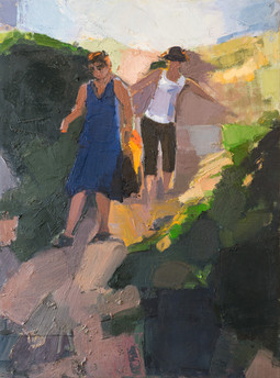 The Sisters Went for a Walk II, oil on canvas, 45*60cm| 2017