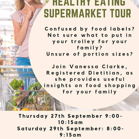 Healthy Eating Supermarket tour