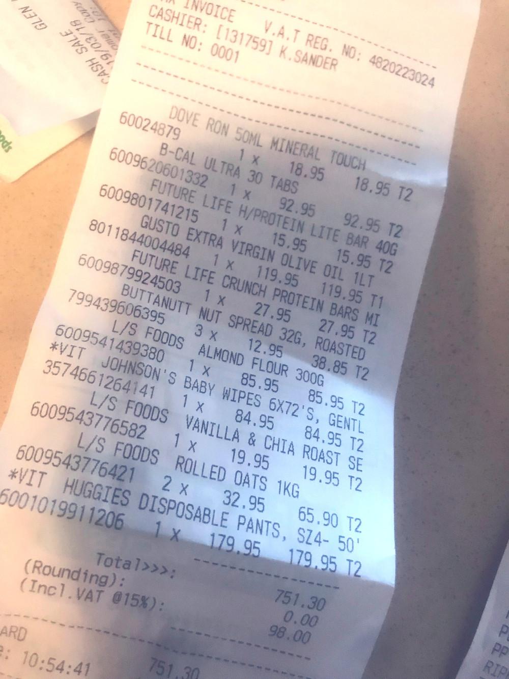 trolley, shopping, dietitian, nutrition, dischem, durban
