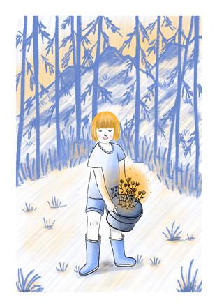 Alexandra Borghino-Willow gardening