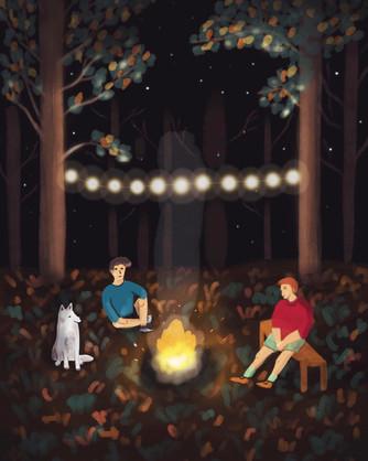 Campfire_digital illustration