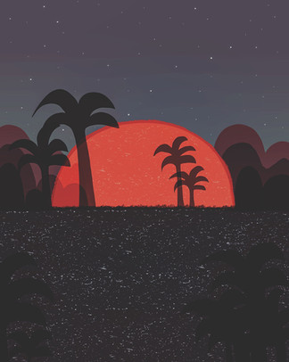 Sunset_digital artwork