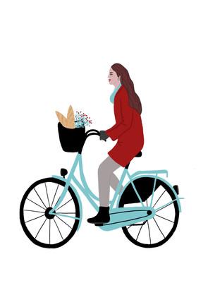La bicyclette-digital painting