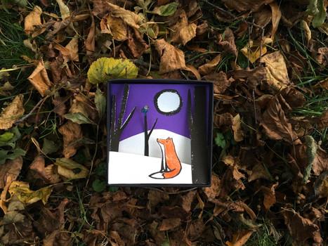 Alexandra Borghino - Art in a Box - Fox and Bird