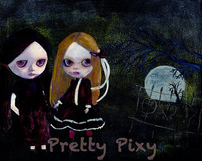 Blythe inspired pretty little zombies.