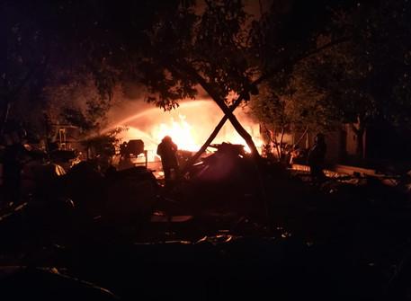 Laubenbrand im Baumschulenweg