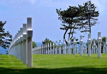 The graves of fallen D-Day soldiers in Normandy landings