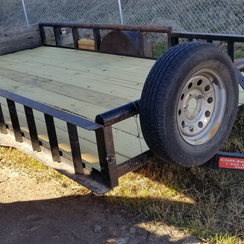 14ft Utility trailer with ramps, you can load a side-x-side and a fourwheeler on this trailer.