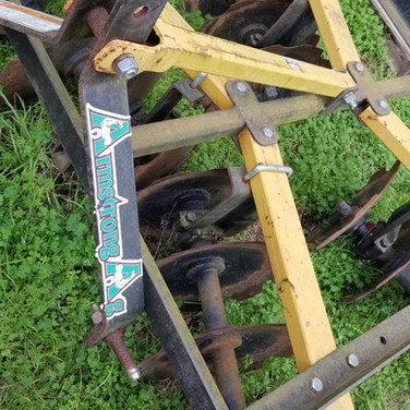 3-Point disk attachment for tractor, 6ft