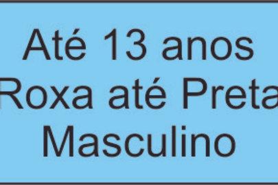 Até 13 anos - Roxa até Preta - Masculino