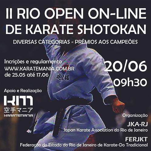 Inscrição II RIO OPEN ON-LINE