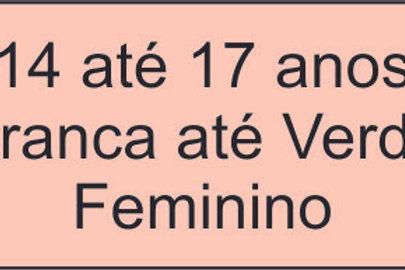 14 até 17anos- Branca até Verde - Feminino