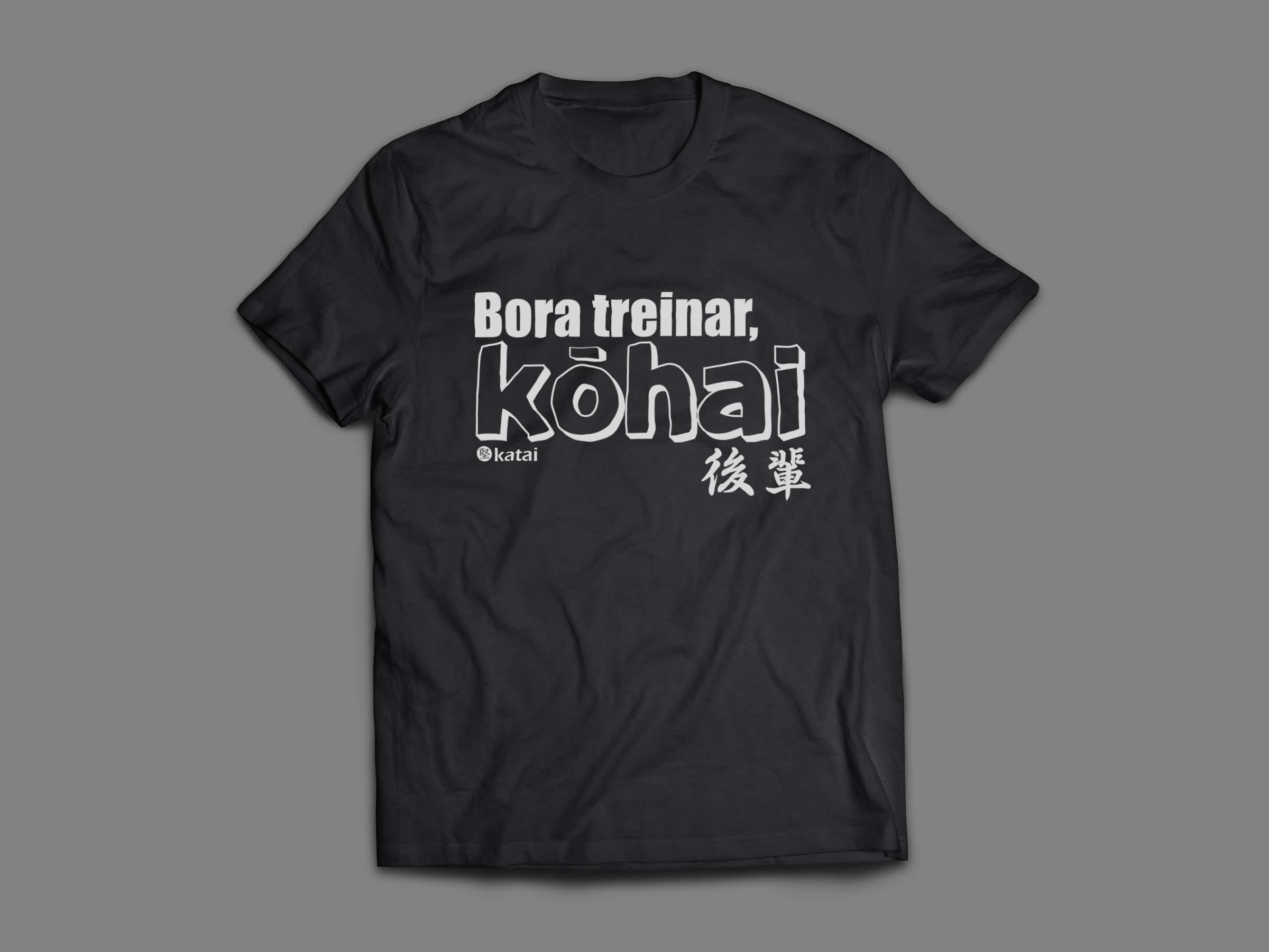 Bora treinar_camisa preta