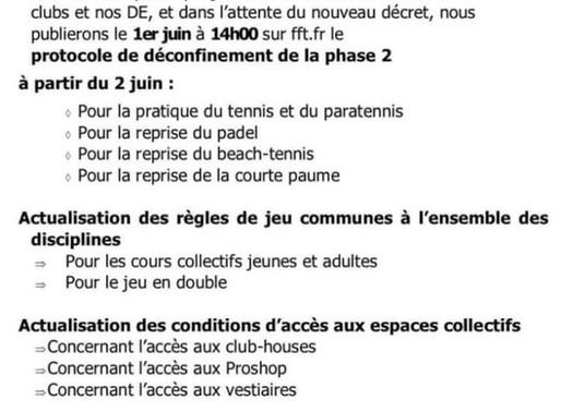 Protocole de déconfinement - PHASE 2 - FFT