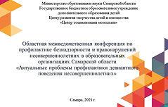 Областная межведомственная конференция п