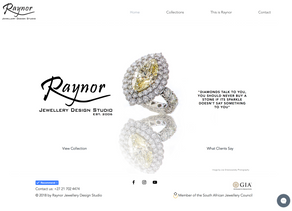 Raynor Jewellery Design Studio Website
