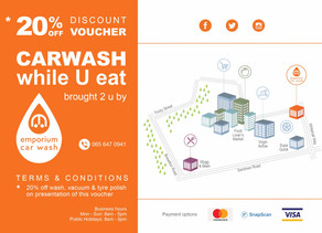 Car Wash Emporium, Sunningdale: Infographic design for marketing purposes