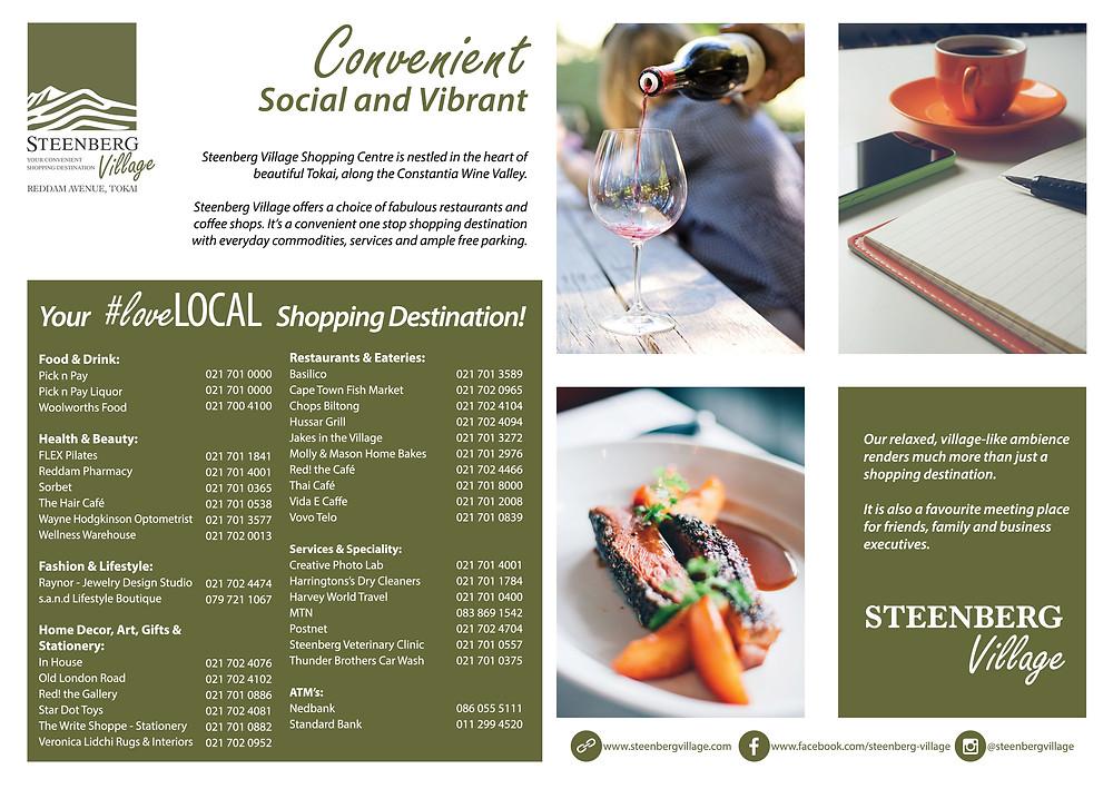 Steenberg Village Shopping Directory Advert
