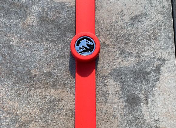 Jurassic Park Red Aromatherapy Slap Bracelet