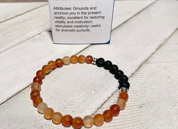 Faceted Carnelian 6mm