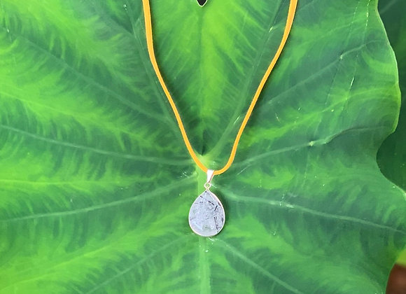 Epidote pendant necklace