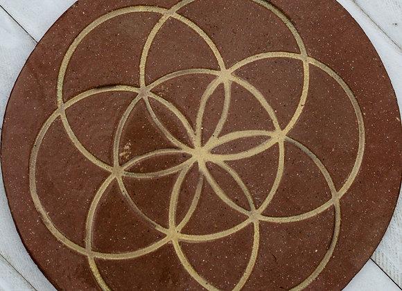 Crystal Grid Ceramic Plates