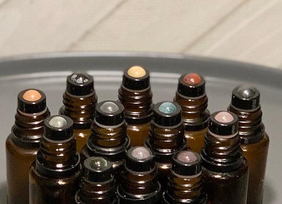 Gemstone Roller Ball Tops for 5 or 15 mL Bottles